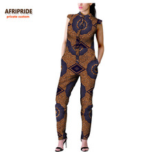 2018 african autumn women casual jumpsuit AFRIPRIDE private custom sleeveless ankle-length for pure cottonA722907