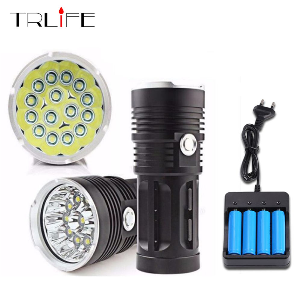 High Powerful LED Flashlight 15 L T6 30000 Lumens Super Bright Waterproof 3 Modes Torch for Home and Outdoor ActivitiesHigh Powerful LED Flashlight 15 L T6 30000 Lumens Super Bright Waterproof 3 Modes Torch for Home and Outdoor Activities