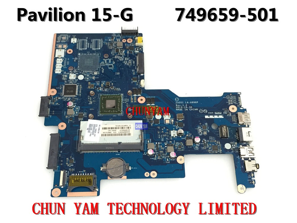 Original 749659-501 FOR HP 15-G Laptop Motherboard ZSO51 LA-A996P REV:1.0 E2-3800 Mainboard 90Days Warranty 100% tested zso стандарт