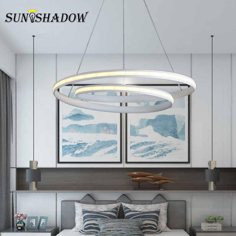 Белый и черный светодиодный подвесной светильник AC110V 220V новые современные подвесные лампы для гостиной спальни столовой подвесные лампы Led блеск