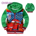 2016 Hot New Children Hoodies Cars Pixar Sweatshirt Jacket Boys Spring Autumn Coat Kids Long Sleeve Casual Outwear Clothing