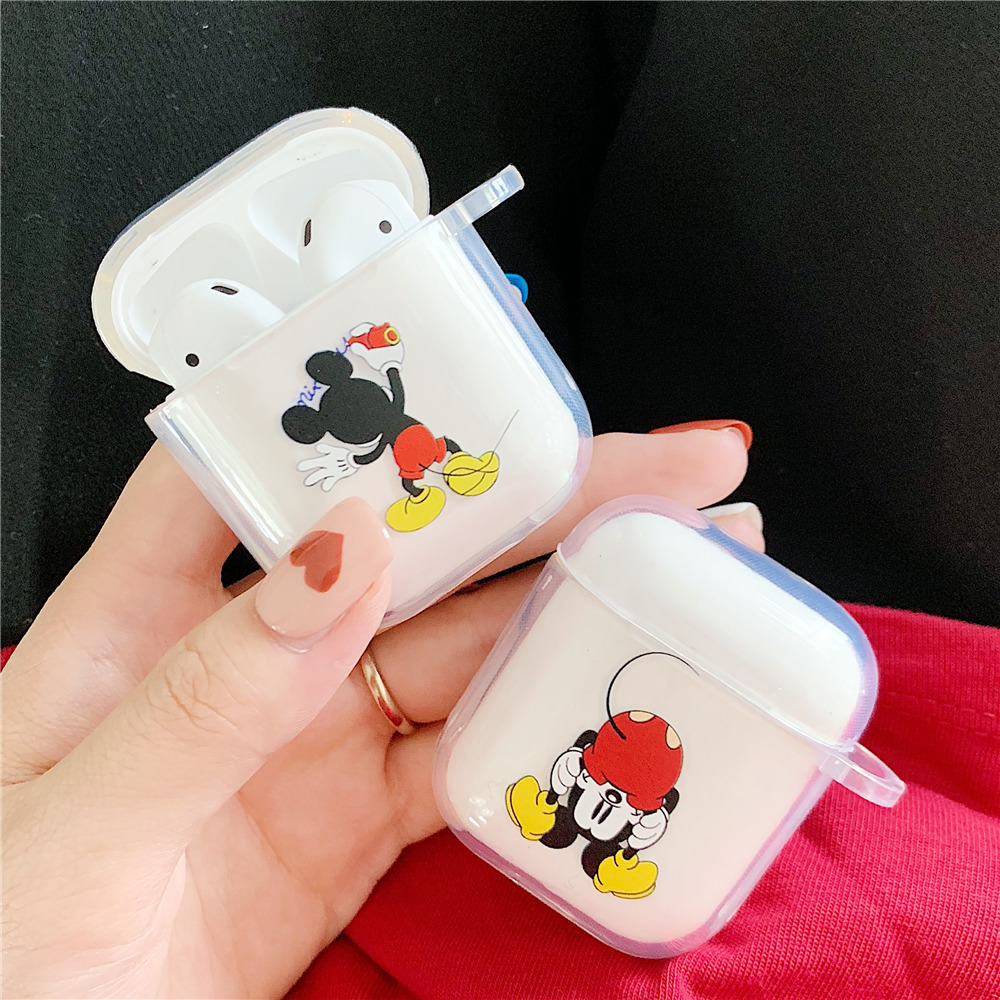 Cartoon Soft Tpu Mickey Earphone Clear Case For Apple Airpods 1 2