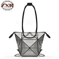 Changeable Bag Women Handbags Famous Designer Casual Tote Handle Bag Women Silver Handbag Geometric Bag
