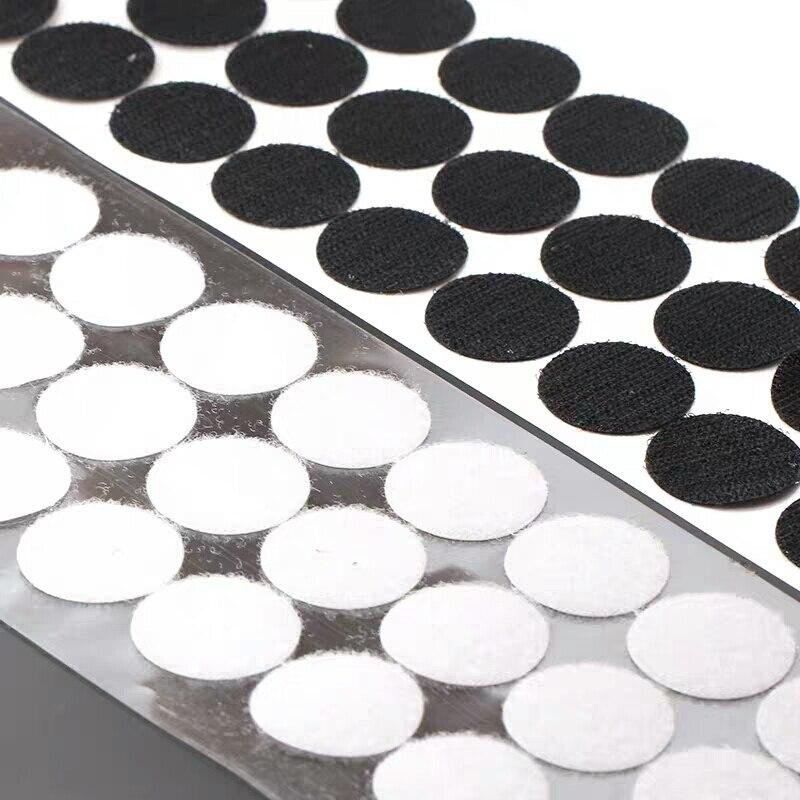 100 пар собственной личности клейкая крепежная лента 10/15/20/25/30 мм сильный клей точечный стикер крюк и петля черно-белые круглые монеты нейлоновая изолента
