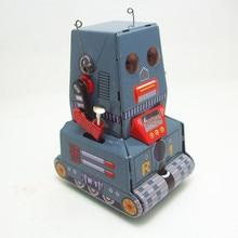 Классическая коллекция Ретро Заводной металлический ходячий оловянный Танк автомобиль зонд Луна робот напоминание механическая игрушка Дети Рождественский подарок