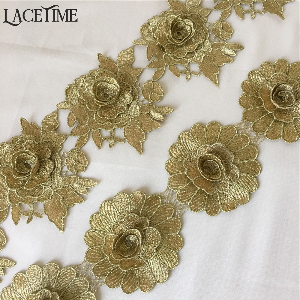 Lace Trim 2 1//4 inch Wide 10 yards Ivory Cream Shiny Roses Sewing Crafts Lot 43