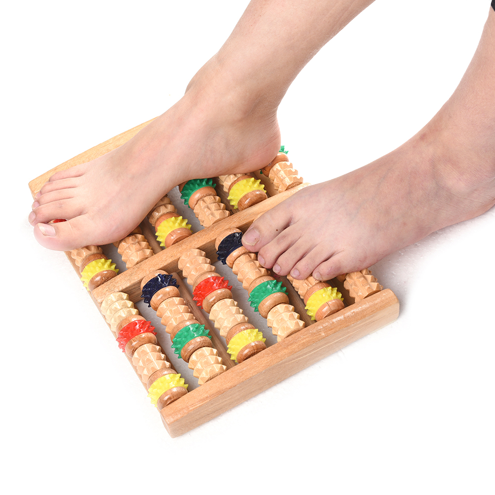 Купить с кэшбэком Foot Massager New Arrival Wooden Wood Roller Foot Massager Stress Relief Heath Therapy Relax Massage