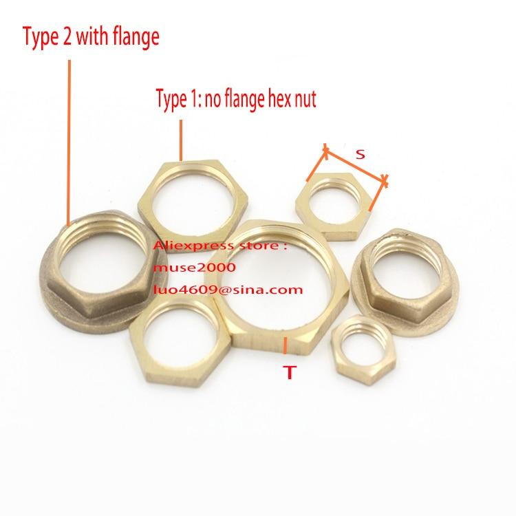 Brass Nylon Insert Lock Hex Nut UNC 3//8-16 Solid Brass Nylon Lock Nuts QTY 25