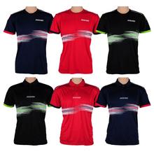 DONIC Mens TABLE tenis koszulki koszulowe 100 bawełna oddychająca rakieta sportowa Koszulka tanie tanio Mężczyzn Pasuje do rozmiaru Weź swój normalny rozmiar