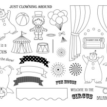 Scrapbook-Card Clear-Stamps P311 Circus Paper-Craft Album Silicon-Rubber DIY Roller Troupe