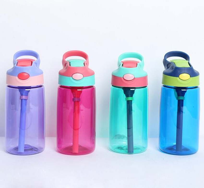 480ML Sports Water Bottle  kids water bottle Straw Water Bottles Bpa Free No Phthalate tritan baby Lemon Bottle-in Water Bottles from Home & Garden on AliExpress