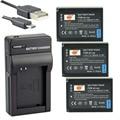 DSTE 3PCS BP-1030 Li-ion Battery + UDC124 USB Port Charger For Samsung NX200 NX300 NX1000 NX210 NX2000 NX300M NX500 Camera