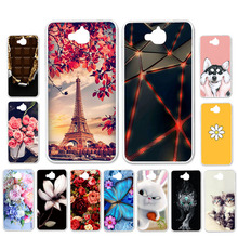 Ojeleye DIY Patterned Silicon Case For Huawei Y6 Pro Soft TPU Cartoon Cover Honor 4C Covers Anti-knock Shell