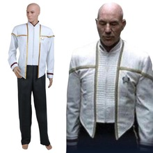 Custom Made Men's Outfit Star Trek Insurrection Nemesis Mess Dress Uniform White Costume Cosplay for Cosplay Party