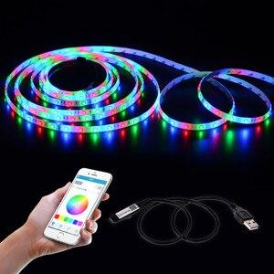 Image 5 - 5 V USB LED RGB Controller Wifi Bluebooth di Alimentazione Per La TV Retroilluminazione A led Regolatore di RGB della striscia Della Luce A Distanza Wifi Magia casa colorata