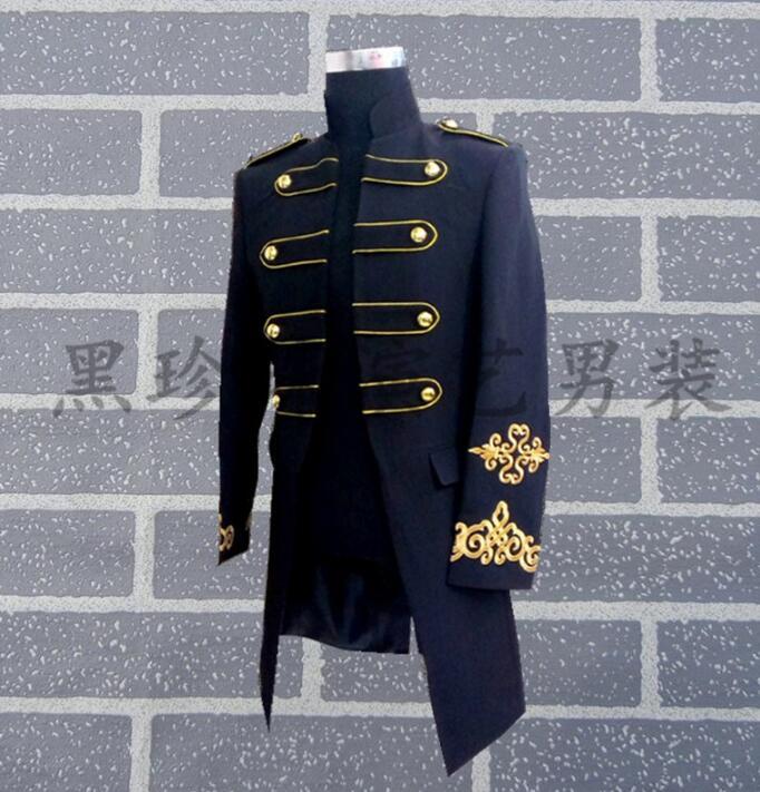 Homme Conceptions Noir blanc Longs Les Costumes Blazer Danse Style Robe Pour Hommes De Scène Masculino Blanc Rock Vêtements Terno Noir Chanteurs qXfp1wgw
