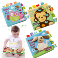 Safety Baby Toys Learning&Education Soft Cloth Book Animals Embroidered Fabric Infant Baby Early  Activity Books Creative Gift
