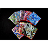 Man 8 PCS Colorful 10 Paisley Floral Rolled Pocket Square Handkerchief New WHSYX0014