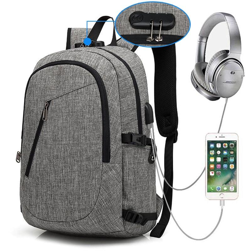 Anti-dieb USB bagpack laptop rucksack für frauen Männer schule rucksack Tasche für jungen mädchen Männlich Reise Mochila Anti-dieb rucksack
