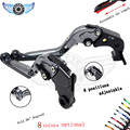 motocross brake levers adjustable motorcycle brake clutch levers FOR Kawasaki NINJA 250R 2008-2012 Z125 2015-2016 NINJA 300r