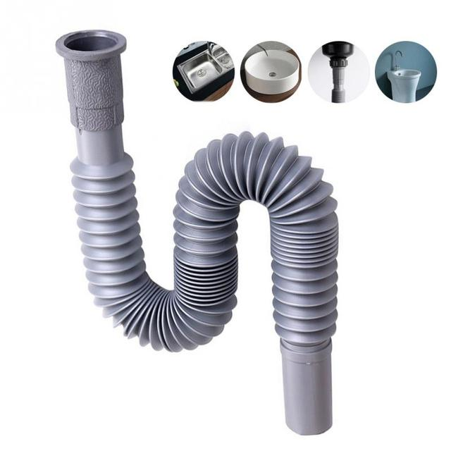 Good Quality Flexible Water Pipe Wash Basin Drainage Pipes Lengthen ...