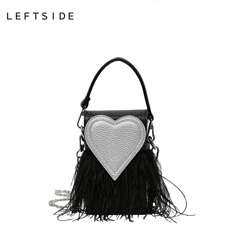 Prix pour LEFTSIDE 2017 Femmes Sac À Main Designer Élégant Chaîne Bandoulière PU Sacs À Main En Cuir Dames Sacs À Main Rouge Coeur Épaule Sac