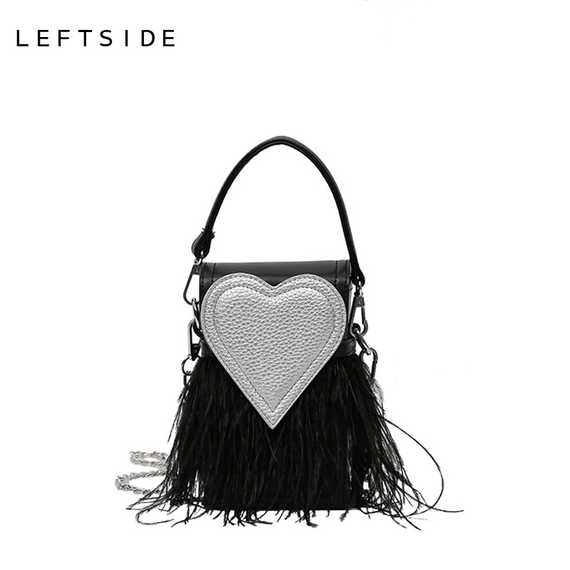 LEFTSIDE 2017 Women Handbag Designer Stylish Chain Crossbody PU Leather Handbags Hand Bags Red Heart Shoulder Bag Ladies Bolsas high quality shoulder bags designer 2017 handbag ladies small chain shoulder bags women bag bolsas fashion women s handbags