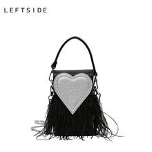 LEFTSIDE 2017 Frauen Handtasche Designer Stilvolle Kette Crossbody Pu-leder Handtaschen Handtaschen Rot Herz Umhängetasche Damen Taschen
