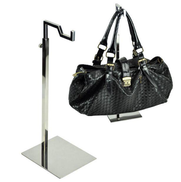 5pcs Classic small single- bend hanging frame stainless steel handbag display rack womens bag wig purse tie display holder rack