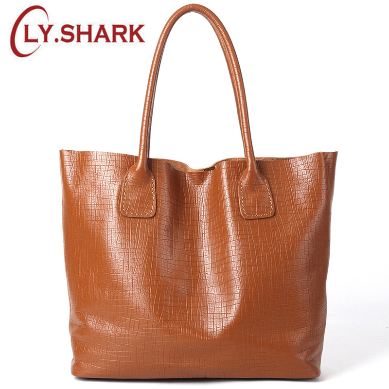 LY.SHARK 2019 new imported first layer cowhide soft leather big bag shoulder bag large capacity handbag leather handbagLY.SHARK 2019 new imported first layer cowhide soft leather big bag shoulder bag large capacity handbag leather handbag