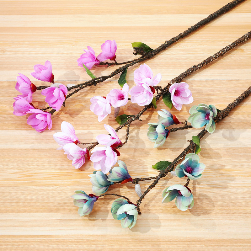 Klonca Mini Natural Silk Flower 78cm 1pc Magnolia Artificial Fake for Home Decoration