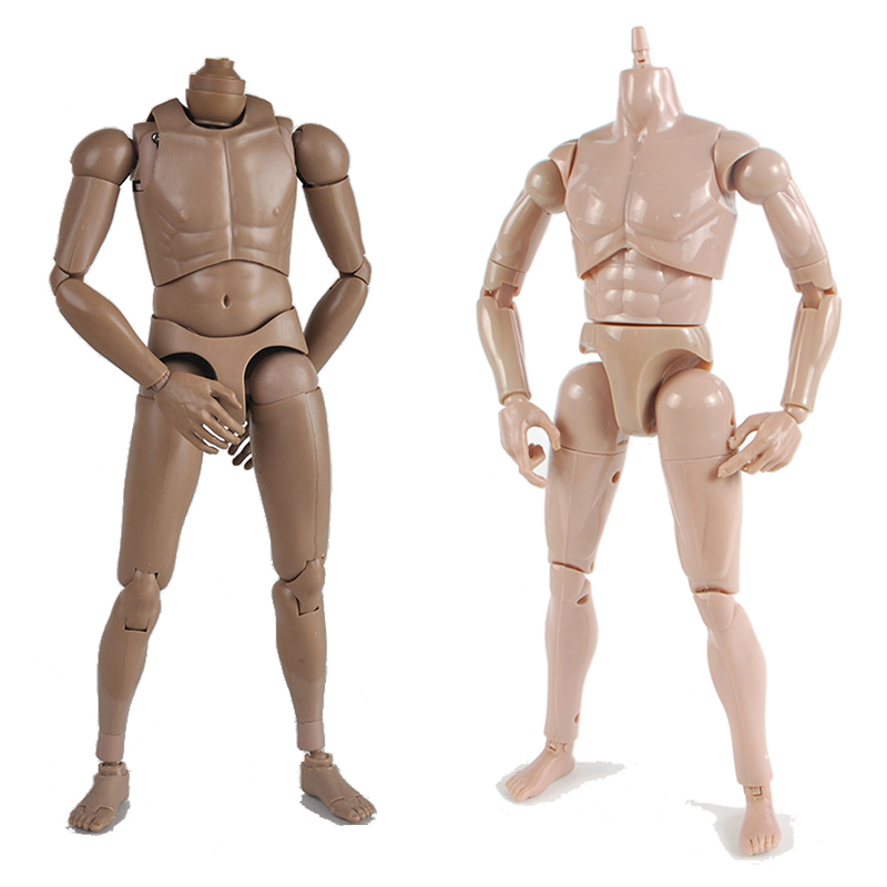 (Jimusuhutu) 1/6 Nude Man Body Figures 12'' Male Muscle Human Figure Body DIY Soldier Dolls ABS Model Toy Boy Gift image
