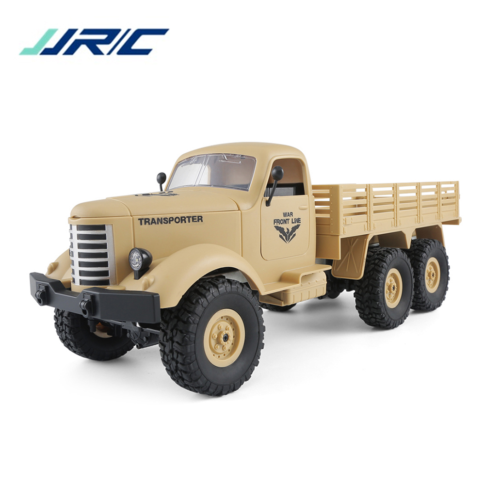 JJRC Q60 RC voitures 6WD voiture tout-terrain camion militaire plan incliné amortisseurs différentiels Conversion de vitesse projecteurs lumineux