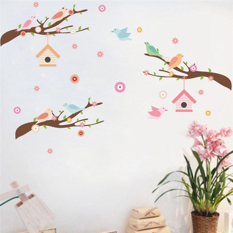 Uccelli Tree Branch Wall Sticker Stickers Murali Art Home Decor Wedding  Camera Da Letto Soggiorno Decorazione Murale Camera Dei Bambini Decor