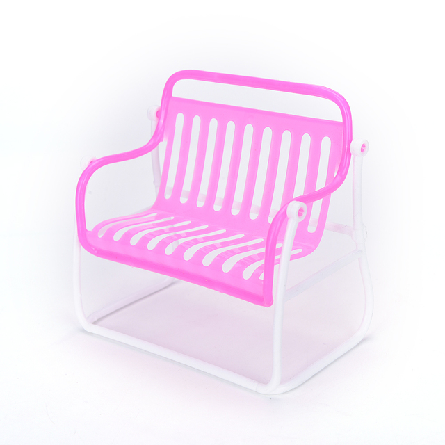 Marvelous Us 1 66 16 Off 1Pc Pink Furniture Toy Sofa Chair For Barbie Doll House Furnitures Accessories Girls Birthday Xmas New Years Best T In Dolls Short Links Chair Design For Home Short Linksinfo