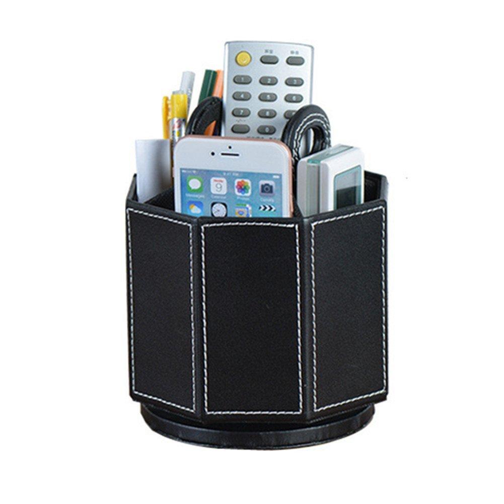 PU Leather Rotatable Remote Control Holder Storage box for TV Remote Phone Eyeglasses все цены