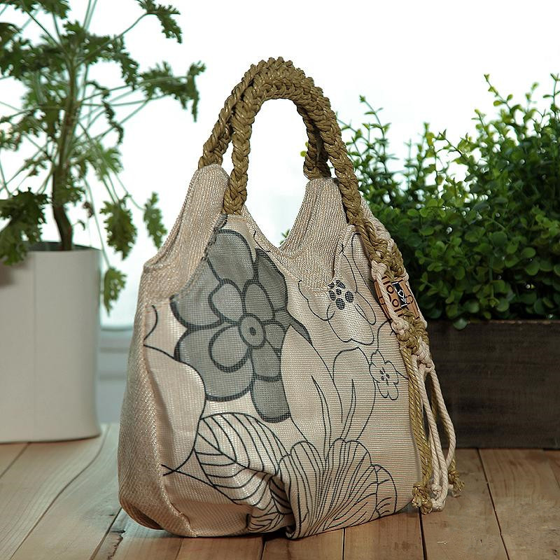 Appliques Travel Bags!Nice Floral Prited Lady Casual Shoulder&Handbags Versatile National Tassel Small Carrier