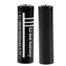 18650 lithium battery 6000mAh large capacity 3.7V flashlight