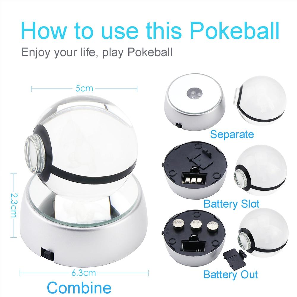 Charizard 3D Crystal Ball Pokemon Go 5CM үстелге - Түнгі жарық - фото 5