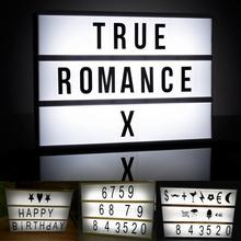 3 Line A4 Size LED Cinema Light Box Energized Mode Cinematic Lightbox Letter + Number Combination Puzzle Light New Arrival