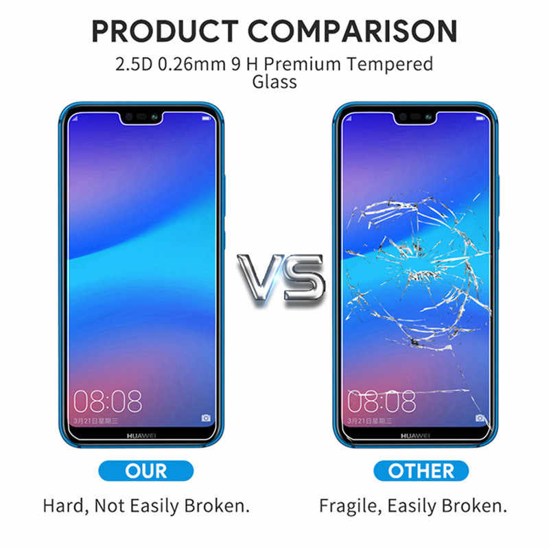 2.5D 9H Tempered Glass Film For Huawei Y3 Y5 Y7 2017 P Smart 2019 Y9 Y5 Y6 Y7 Prime 2018 Glass Screen Protectors on P Smart 2019