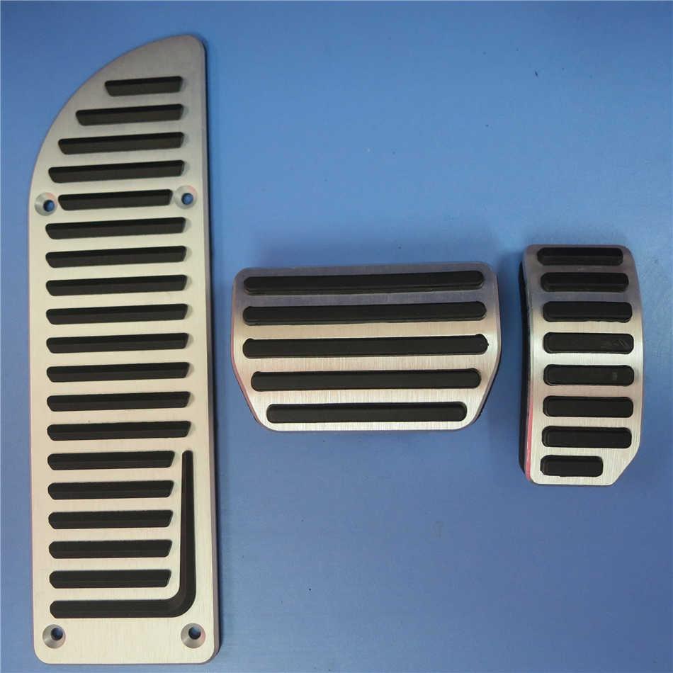 DEE автомобильные аксессуары из алюминиевого сплава педаль акселератора газа тормоза для VOLVO S60 S80L XC60 S60L V60 V70 на педали пластины колодки Чехлы - Название цвета: 3 PCS