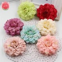 Tanie hurtownie 50 sztuk jedwabiu 6 cm nagietka sztuczny kwiat na ślub dekoracje do domu na imprezę Mariage nagietka sztuczne kwiaty