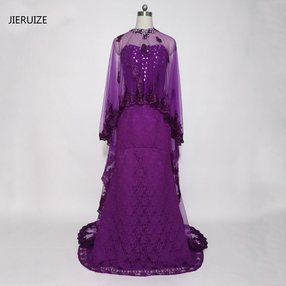 JIERUIZE Purple Lace Mermaid երեկոյան զգեստներ - Հատուկ առիթի զգեստներ