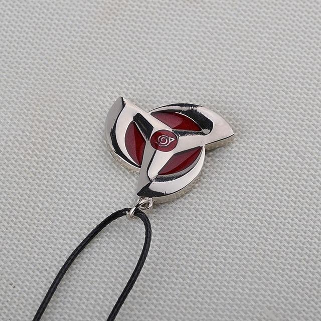 Naruto symbol necklace Women Men Leather chain Necklaces Pendants Naruto Leaf Village Design Necklace