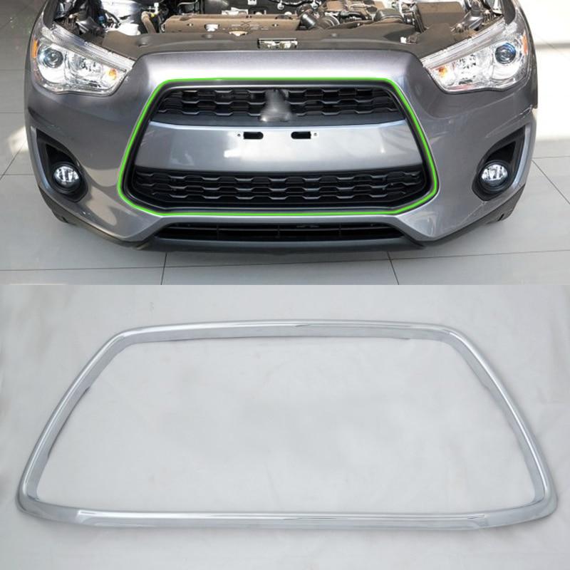 Pièces de voiture ABS chrome calandre cadre couverture 1 pcs Car Styling accessoires Pour Mitsubishi 2013 ASX