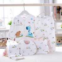 5pcs Set Newborn Gift Baby Clothing Set For 0 6M Baby Boy Girl Clothes Set 100