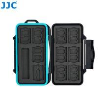 JJC Hafıza kart tutucu SD Mikro SD TF Telefon Nano SIM Kartları Depolama iphone için kılıf/Canon Kamera Su Geçirmez Kutusu Kart Durumda