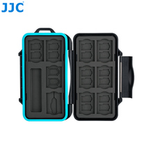 JJC Memory Card Holder SD Micro SD TF Phone Nano SIM Cards Storage Case for Iphone /Canon Camera WaterResistant Box Card Case цена 2017