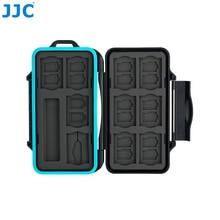 JJC حامل بطاقة الذاكرة SD مايكرو SD TF الهاتف نانو سيم بطاقات تخزين حالة ل Iphone/كانون كاميرا صندوق مقاوم للماء بطاقة حالة